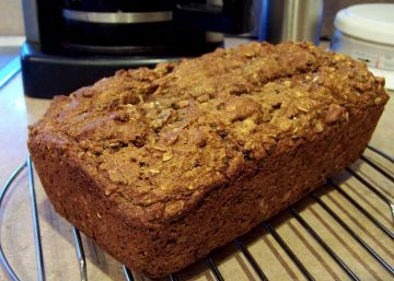 A wholesome and healthy recipe that does not need butter, oil or eggs! The coffee-soaked dates are a bonus! The dates and apples make this loaf moist, while the nuts add a little crunch at the same time. I like it so much because its moist, delicious and is low fat! I couldnt stop at 1 slice! If you dont like the idea of coffee-flavoured dates, you can soak the dates in 1 cup of hot water with 1 tablespoon of maple syrup. Please try this healthy recipe, enjoy! :)