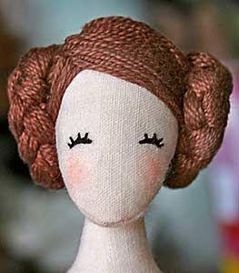 Tilda doll idea (hair & face)