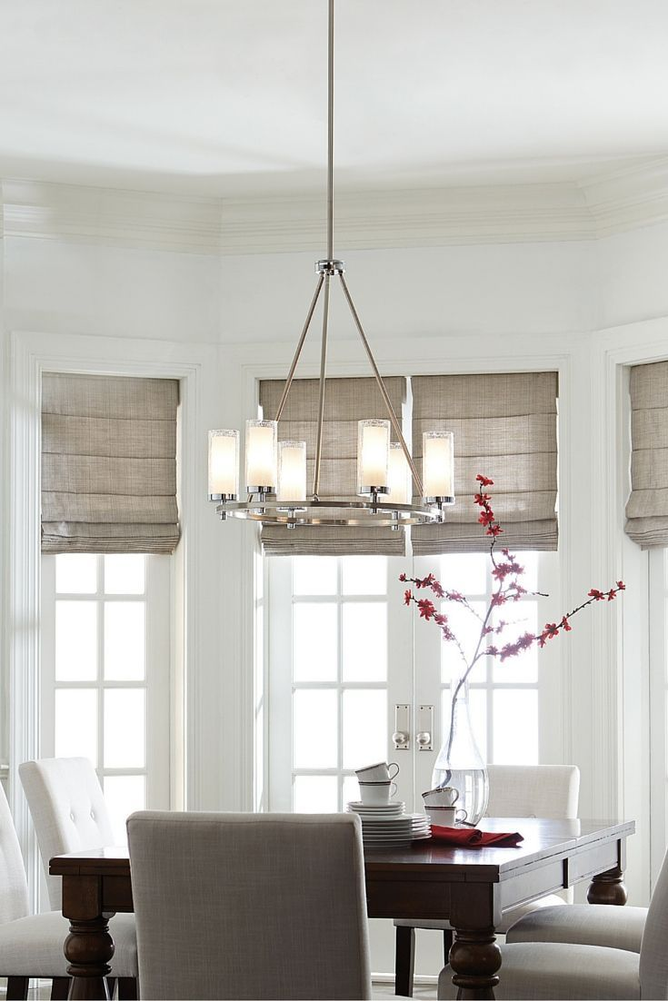 With A Modernized Wagon Wheel Silhouette, The Jonah 6 Light Chandelier By  Feiss Has · Dining Room ...