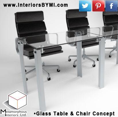 Glass Table & Chair Concept  #Design #InteriorDesign #Vision