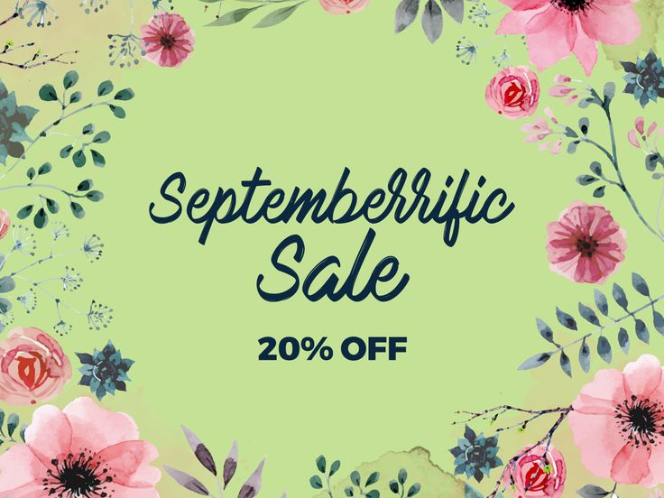 S.E.P.T.E.M.B.E.R.R.I.F.I.C S.A.L.E ! ! ! Get the advantage to receive 20% OFF for orders above $260 only! Promo is valid until 30th of September. See promo mechanics now!