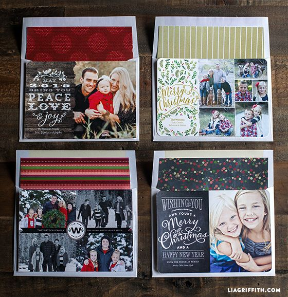Shutterfly Christmas Cards by Lia + Printable Envelope Liners to Match - Lia Griffith