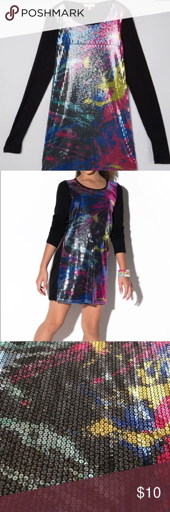 Little Miss Matched Sequin Dress Girls 6 Good used condition, love the colorful shimmer. Has an easy-on, comfy fit.  Chest 26-27, Waist 21.5-22.5, and Height 46-49 little Miss Matched Dresses