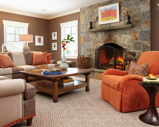 1000 ideas about burnt orange curtains on pinterest - Orange and brown living room ideas ...