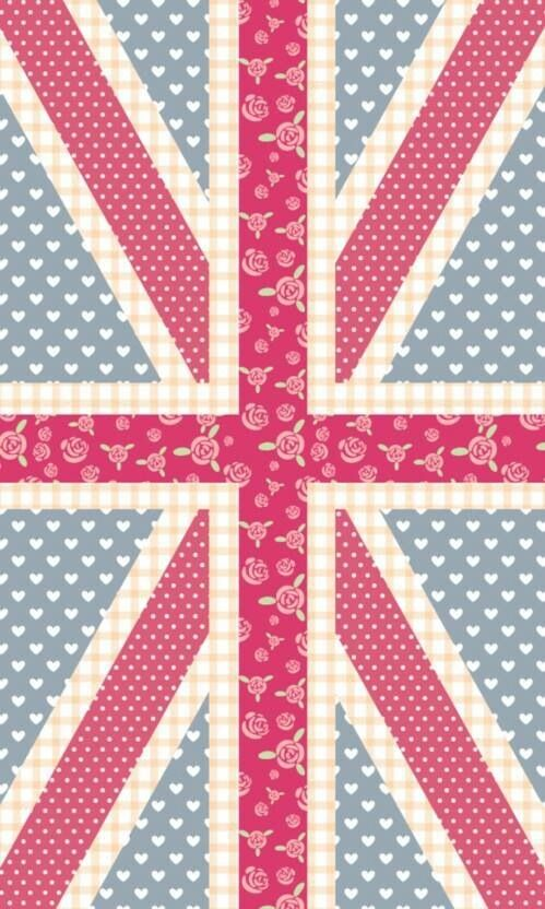 England Love Art Print by Pink Berry Patterns