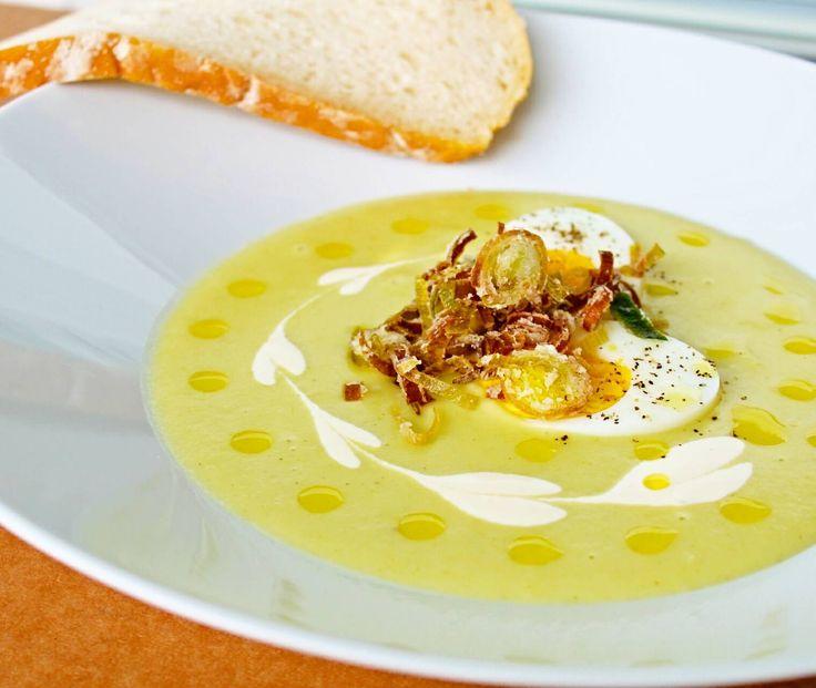 Potatis- och purjolökssoppa! En av mina absolut favoritsoppor. Len, krämig, mild och rund. Nu när det ju ingen direkt sommar ute, så varför inte äta en god soppa? Den friterade purjolöken ger...