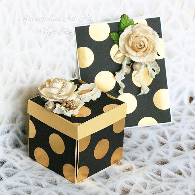 """Подарочный набор """"Золото"""": открытка + коробочка для денег. Всё в одном стиле.  Выполнено на заказ, можем сделать подобный набор для вас. Такой набор - это прекрасный подарок имениннику на день его рождения, юбиляру на его юбилей, а также молодоженам на свадьбу!  Для заказа WhatsApp +79266562421 Доставка по всему миру!  #viyasky #мастерская_kit_hit #подарки #открытка #коробка #ручнаяработа #handmade #хэндмэйд #рукоделие #своимируками #подарочныйнабор #коробочкадляденег #дляденег #коробочки…"""