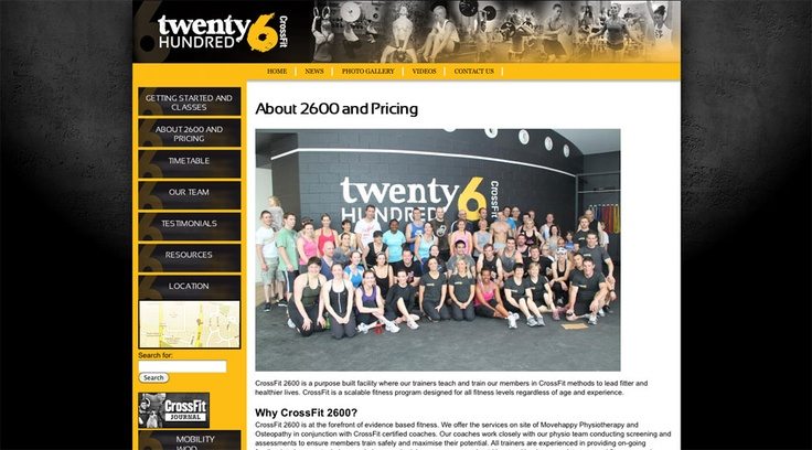 2B Advertising & Design - Crossfit2600 - Website Design