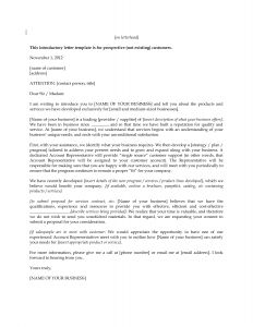 Sales Introduction Letter Template 1 For Product Lease Letter Of Intent Sample Money
