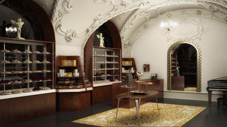 Mert's chocolate shop 3ds Max-Vray-photshop