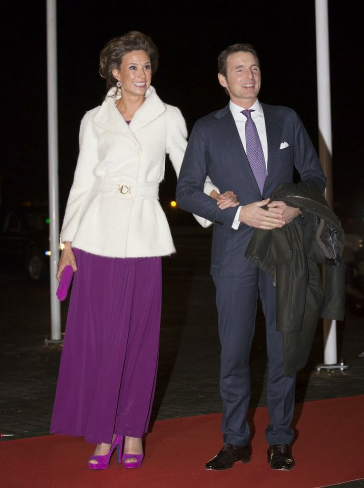 2-1-14.  Dutch Royal Family attended a celebration of the reign of Princess Beatrix in Rotterdam.  Marilene and Maurits