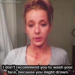 Jenna Marbles, drunk make up tutorial :)