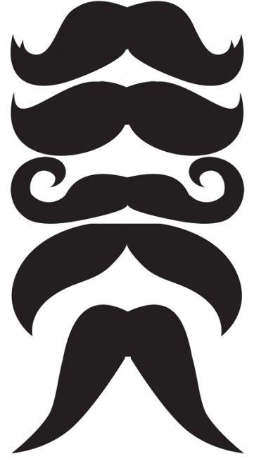 bigotes plantillas imprimibles photocall