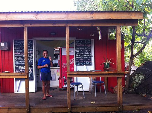 Best coffee in Rarotonga - hope we can find this shop
