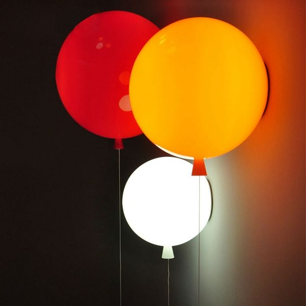 Novelty Modern Colorful Acrylic Shade Balloon Wall Light for Children Bedroom Decor