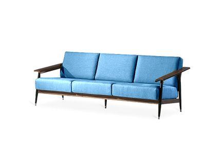 """Трёхместный диван """"Dowel"""" Стильный дизайн дивана Dowel от Шона Дикса произведен с изящным вниманием к деталям. С намеком на шик ретро 1960-ых этот смелый дизайн отлично дополняет гостиные или офисы."""