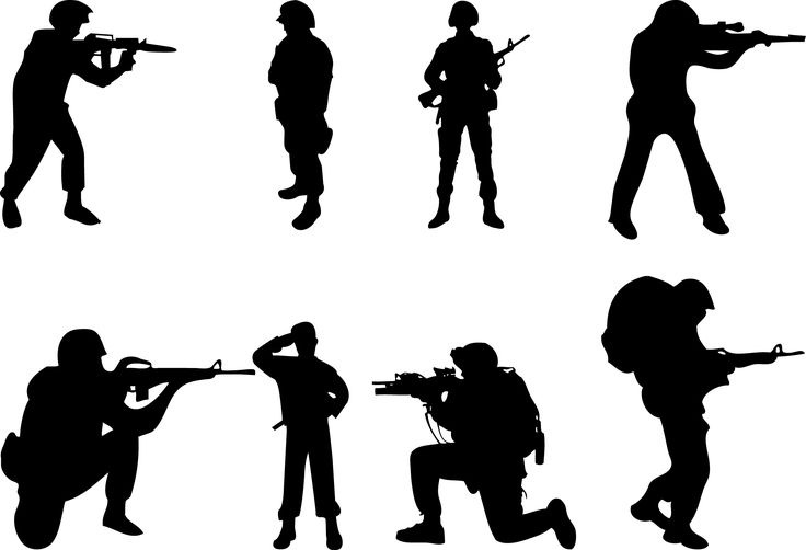 silhouette soldier silhouettevector net people silhouette vector rh pinterest com army soldier clipart free army boots clipart free