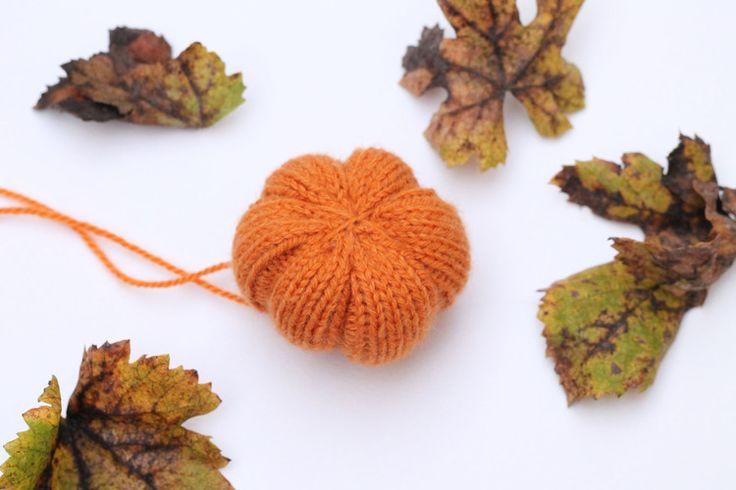knitted orange pumpkin