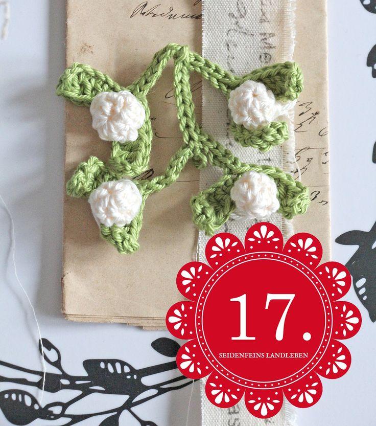 DIY, häkeln, Anleitung, Tutorial, Häkeltutorial, Misteln, mistletoe, crochet, crocheting, crochet mistletoe, seidenfeins landleben, blogcalendar, Blogkalender
