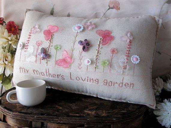 Amoroso jardín almohada mi madre estilo casa de por PillowCottage