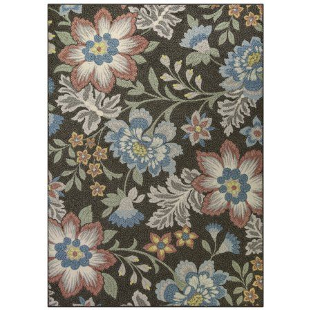 Best Mainstays Gray Floral Loop Pile Print Area Rug Or Runner 400 x 300