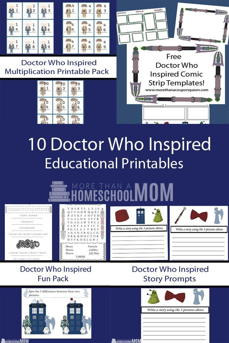 Free Doctor Who Themed Educational Printables! - More Than A Homeschool Mom