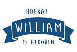 Geboortesticker type William