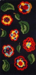 Art Deco Flowers rug making kit 68 x 137cm