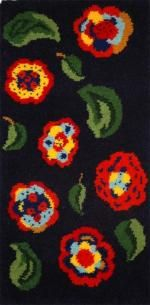 Art Deco Flowers rug making kit 68 x 137cm