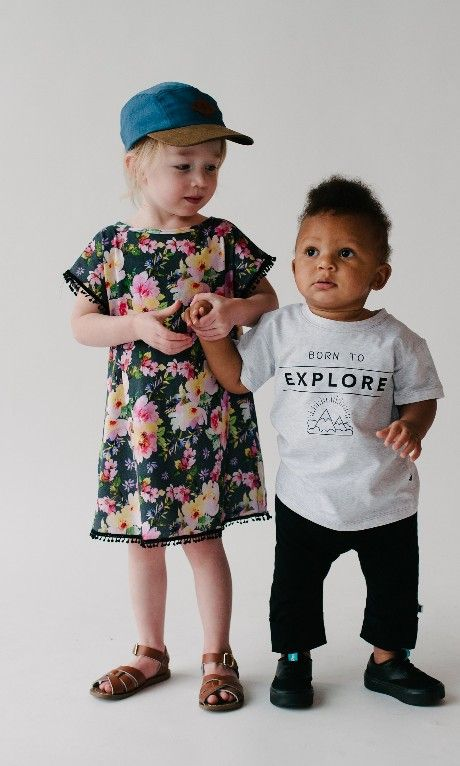 Discovery is better with a friend. Grab your littlest explorer and see what there is to see. These two are ready for the world in their Little and Lively SS17 collection including the 5 panel hats and cropped harem pants. Find it all in the Little and Lively online store.  Photo by @jaymelang