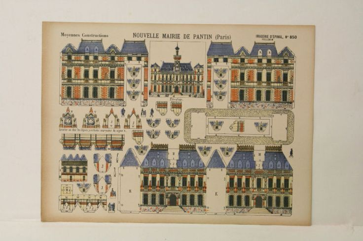 Pellerin Imagerie D'Epinal- 850 Nouvelle Mairie de Pantin Paris M. paper model