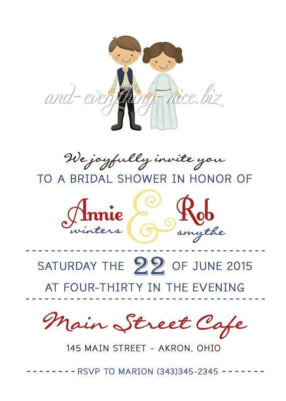 Star Wars Bridal Wedding Baby Shower Birthday Invitation Custom Design - Printed Invitations