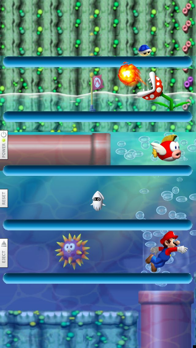 Mario Shelves iPhone 5 wallpaper - Go to website for iPhone 4 version