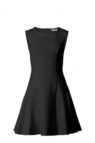 Hunkydory neoprene swing dress black fra Hunkydory