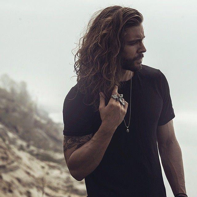 Enjoyable 1000 Images About Long Haired Bearded Men On Pinterest Short Hairstyles Gunalazisus
