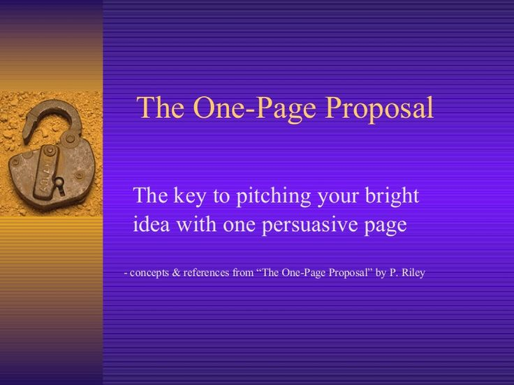 The One Page Proposal by University of Victoria - Distance Education Services via slideshare