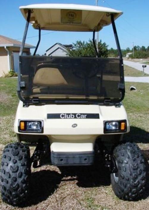 Club Car DS Golf Cart 2000+ Tinted Hinged Windshield