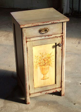 Painted French Country Nightstand - ECustomFinishes