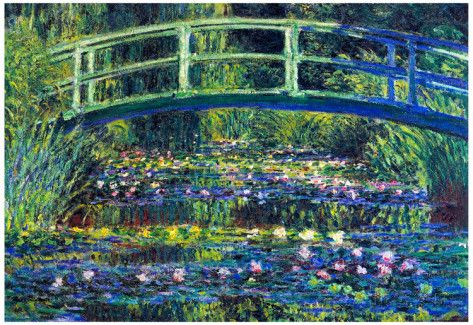 an analysis of the painting water lily pond by claude monet Shop for water lily pond by claude monet hand painted oil painting at overstockart enjoy custom framing and free shipping visit for more info & deals.