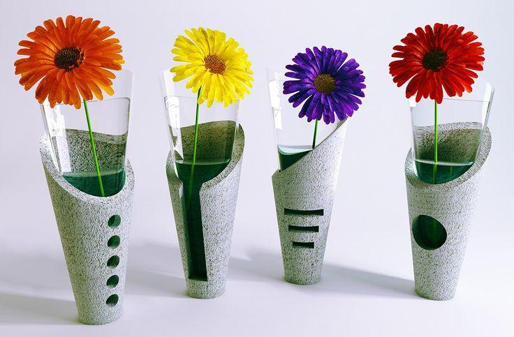 Concrete Vase on Behance