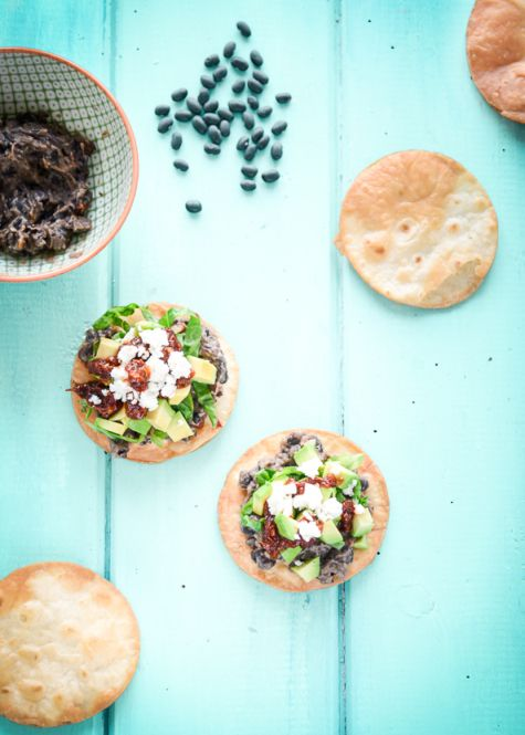 Chipotle and Black Bean Tostadas on things{we}make