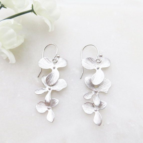 Gift for Mom Orchid Earrings Flower Earrings Orchid