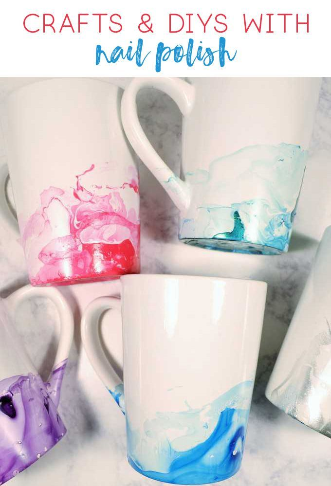 Nail Polish Crafts Diy Crafts Craft Ideas Paint Projects Mugs How To Decorate Mugs Old Nail Polish Mug Crafts Nail Polish Crafts