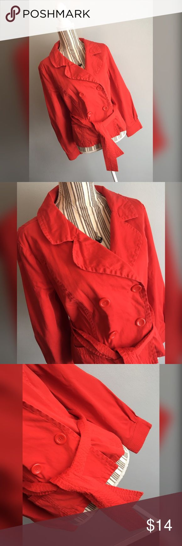 """🎀Live A Little Pea Coat🎀 Red belted pea coat by Live A Little. Size XL. Bust 43"""" lying flat, stretches to 46"""". Shoulder to hem length 22.5"""". Live A Little  Jackets & Coats Pea Coats"""