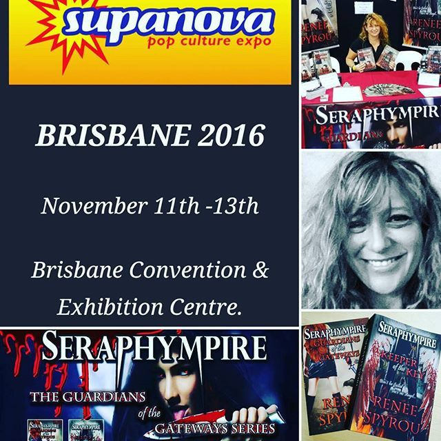 It's #Supanova2016 time again, if you're in #Brisbane #QLD #Australia come & say hi @ the Brisbane Exhibition & Convention Centre, I will be #booksigning & selling my #Seraphympire #novels there this weekend. If you're into #Awesome #Supernatural #fantasy #Vampires #Angels #Apocalyptic  #books similar to the #movies #Hellboy #Xmen #Stargate #IndianaJones #Underworld #Blade #VanHelsing #trueblood  #GuardiansoftheGalaxy #Daybreakers #Leagueofextraordinarymen & #Constantine , come by and say hi…