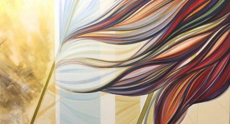 """Pittura Astratta Acrilico su Tela Alta """" Mi fermerò solo quando le strade coincideranno i   """" di Anna Rita Cacciatore   ( 100x50x3 ) di AriArtStudio su Etsy"""