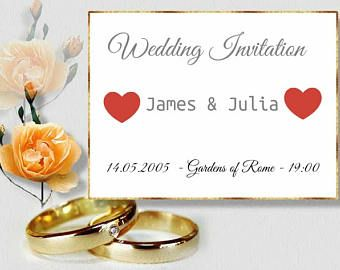 Plantilla invitacion boda, boda celebracion,ejemplo de invitacion, editable, descarga inmediata, 1200x800 mpx