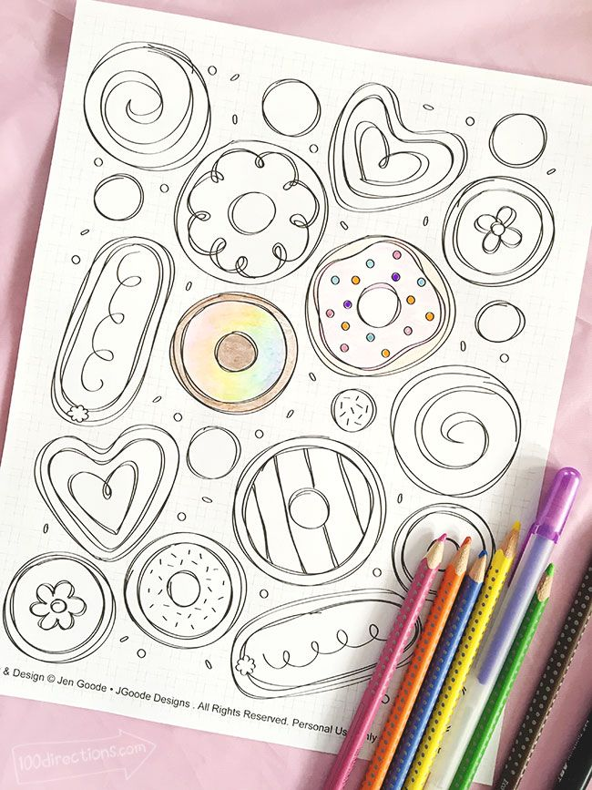Arnie The Doughnut Coloring Page Coloring Pages