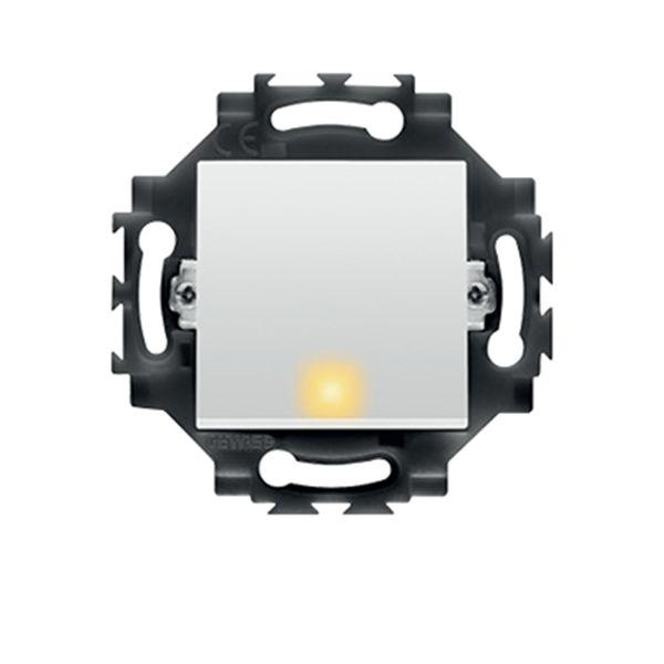 Intrerupator cap scara cu LED, cablare rapida, 1P 10AX alb, Gewiss Dahlia, GW35071W http://www.etbm.ro/gama-dahlia