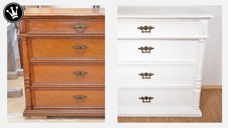 Tutorial – alte Möbel/Kommode aus Eiche streichen I Shabby Chic I Kreide… – Dezemberkind